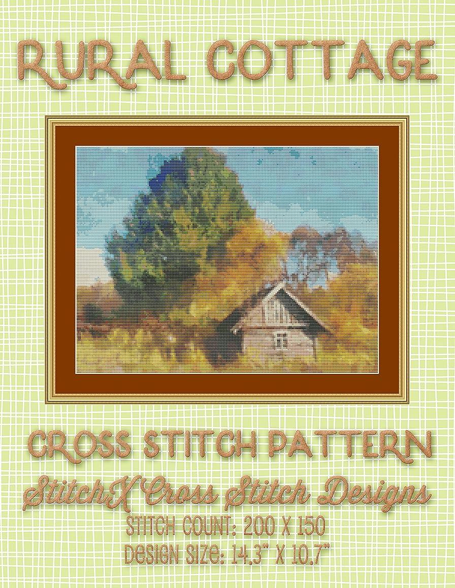 Rural Cottage Cross Stitch Pattern