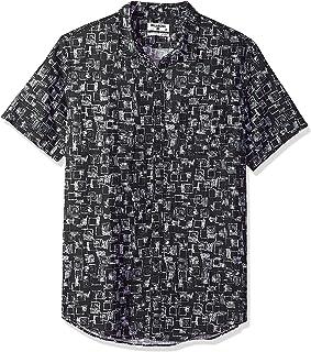 BILLABONG Men's Sundays Mini Short Sleeve Shirt Button
