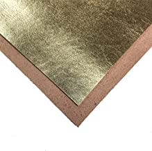 Genuine Leather Metallic Leather Fabric: Real Leather Sheets for Crafting and Jewelry Making (Pure Gold, 6x6In/ 15x15cm)