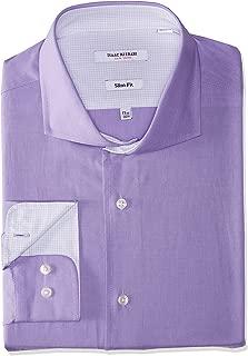 Men's Slim Fit Solid Cut Away Collar Dress Shirt