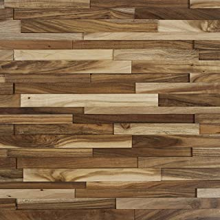 Nuvelle Deco Strips Prairie Wheat 3/8 in. x 7-3/4 in. Wide x 47-1/4 in. Length Hardwood Wall Strips (10.334 sq. ft (Oak) NV8DS