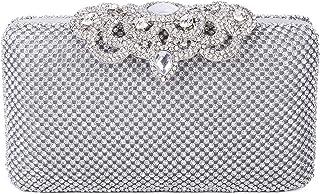 SYMALL Mujer Bolso de Mano con Diamantes Cristales Brillantes Cartera de Mano Estilo Elegante de Lujo Cluthes de Fiesta Bo...