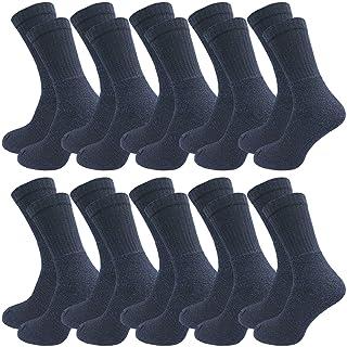 GAWILO Lot de 10 paires de chaussettes de travail - Chaussettes de sport - Chaussettes de tennis - Chaussettes de loisirs...