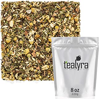 Tealyra - Rest and Digest - Calming Chamomile - Fennel - Anise - Peppermint - Herbal Tea Loose Leaf Tea - Relaxing and Digestive Tea - Caffeine-Free - All Natural - 220g (8-ounce)
