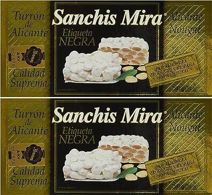 Sanchis Mira Turron de Alicante 200 grs. (7oz.) pack of 2