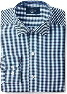 Buttoned Down Camisa de Vestir con Cuello extendido para Hombre