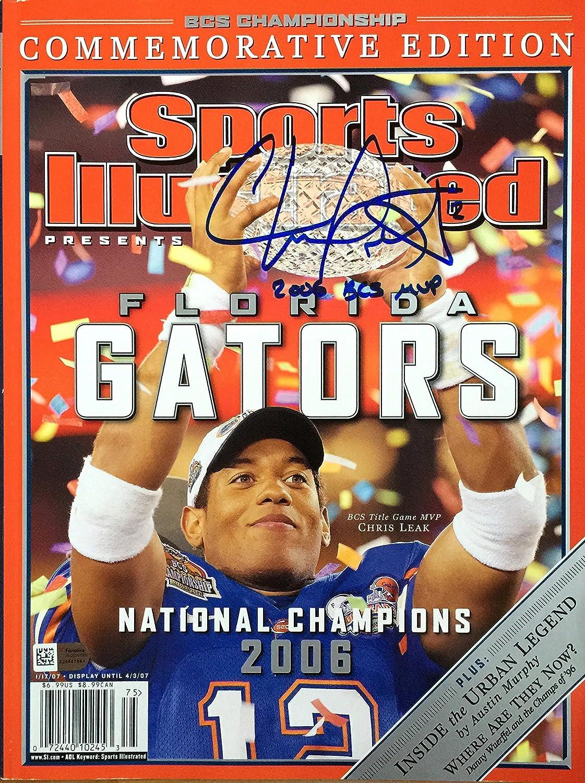 Chris Leak FLORIDA GATORS Illustrated Financial sales sale autographed Low price Sports magazin