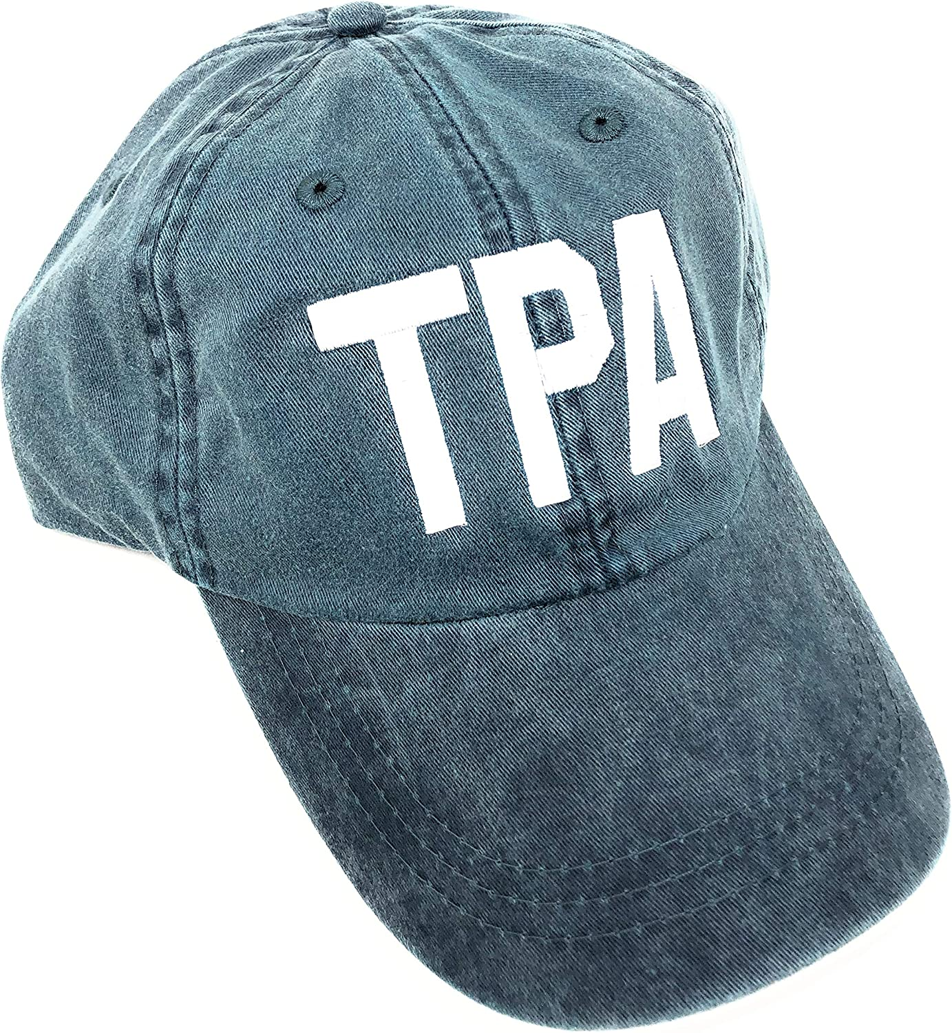 Custom Embroidered TPA Tampa International Airport Code Hat (Pigment Dyed Blue)