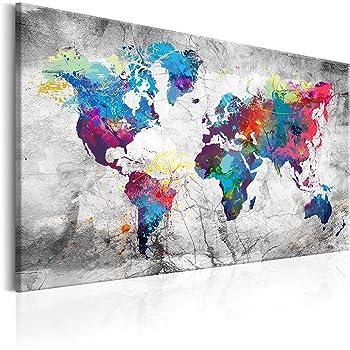 USA LANDKARTE Wandbilder xxl Bilder Vlies Leinwand Leinwandbilder k-A-0477-b-a