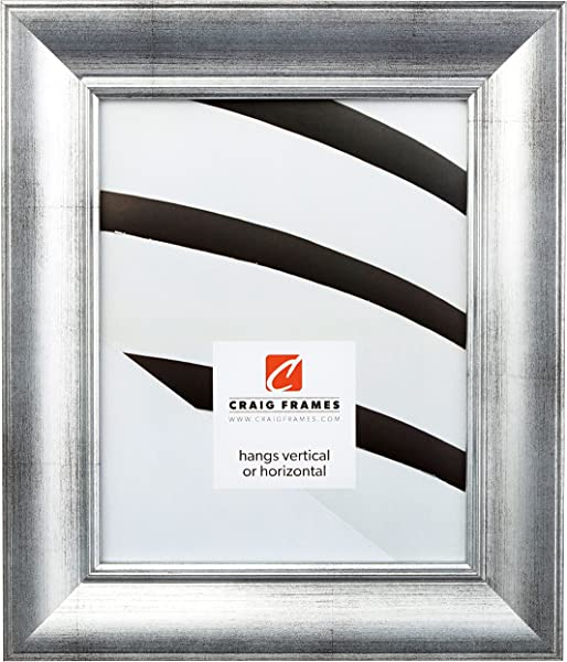 Craig Frames 212313 20 X 30 Inch Picture Frame Smooth Wrap Finish 2 Inch Wide Antique Silver