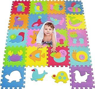 MSHEN Puzle para Niños | Puzle de Suelo de Goma en Espuma EVA Animal- 18 Piezas Alfombra de Juego para bebé Esterilla de Rompecabezas Aprox 1,62 m2-