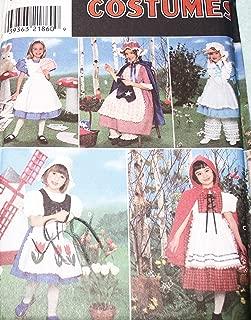 Simplicity 8234 Sewing Pattern Girls Red Riding Hood Bo Peep Dutch Girl Alice in Wonderland Halloween Costume Size 5 - 6 - 7 - 8