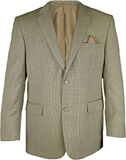 Carabou Mens Classic Brown Blazer Jacket Checked Double Button Fastening