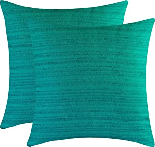 The White Petals Dark Teal Throw Pillow Covers - Luxurious, Elegant & Decorative (20x20