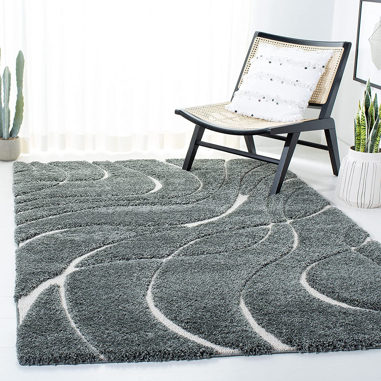 Safavieh Florida Shag Collection Quality inspection Product Abstract Non-Sheddin Wave SG471