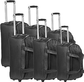 New Travel Duffles Trolly C1105/3P Bag, Black