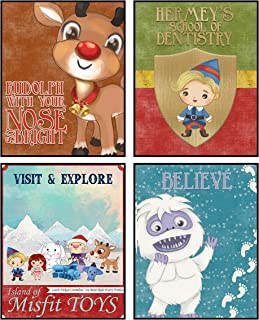 Rudolph The Red Nosed Reindeer Themed Party Supply and Wall Art Print Christmas Decor (Misfits Art)