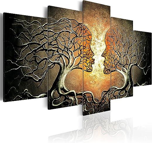 murando – Bilder Bäume Liebe 200×100 cm Vlies Leinwandbild 5 TLG Kunstdruck modern Wandbilder XXL Wanddekoration Design Wand Bild – Abstrakt…