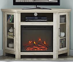 corner entertainment center with electric fireplace