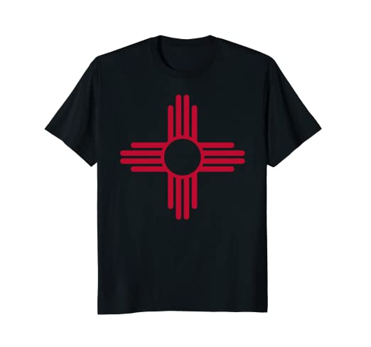 f76183173 Image Unavailable. Image not available for. Color: Red & Yellow Zia Sun  Shirt Retro New Mexico Flag Tee Shirt
