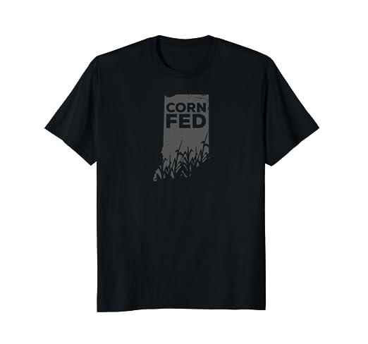 Amazon com: Indiana Corn Fed Proud Hoosier Funny Midwest
