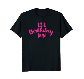 Amazon Half Marathon Birthday T Shirt Runner Gift Running