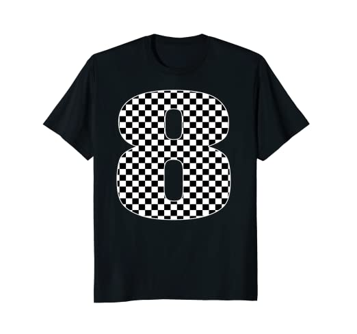 Image Unavailable Not Available For Color Race Car Checkered Flag 8th Birthday Party Shirt