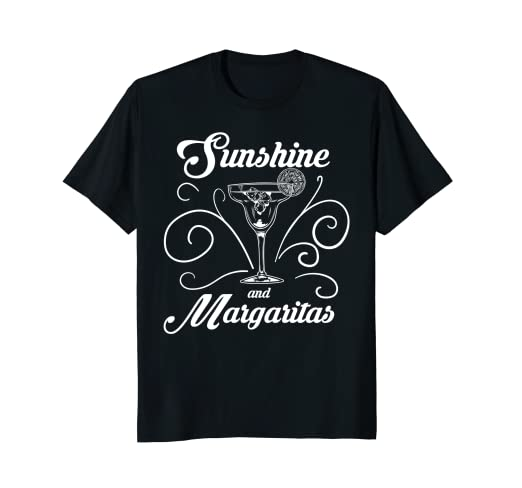 1d182df56df3 Image Unavailable. Image not available for. Color  Sunshine And Margaritas  Fun Spring Break Summer T-Shirt
