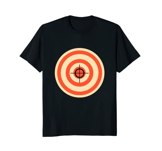 cd2668f5 Image Unavailable. Image not available for. Color: Target T Shirt Funny  Printed On The Back Bulls Eye Gift Tee