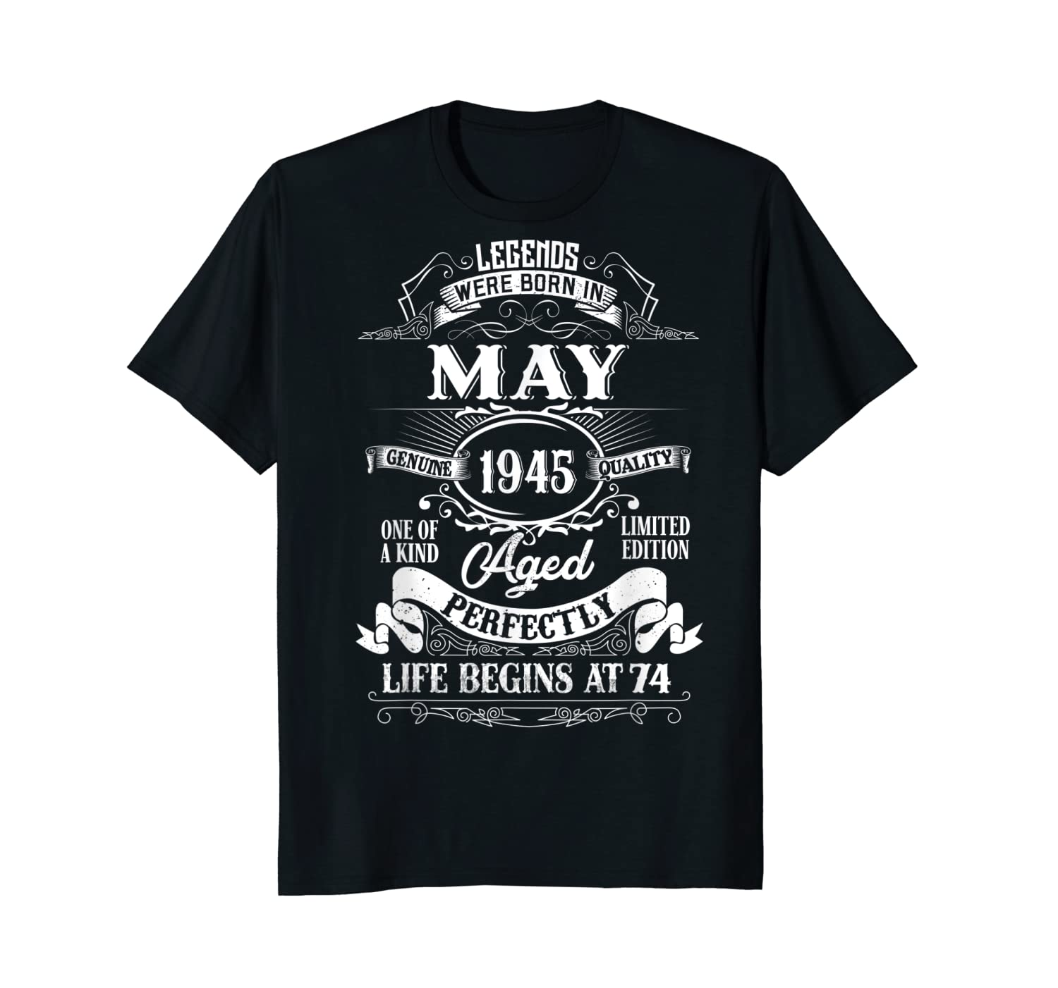 Best Gift May 1945 74th Birthday 74 Year Old Men Women Young Short Long Sleeve Shirt Hoodie