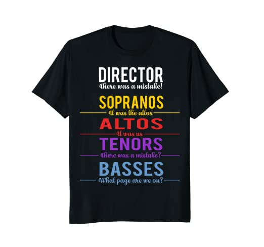 20a457074 Image Unavailable. Image not available for. Color: Funny Choir Director T- Shirt ...
