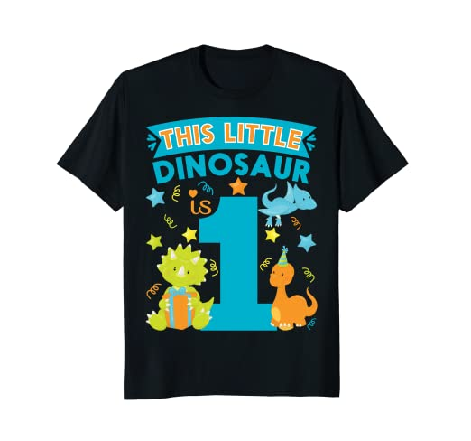 Image Unavailable Not Available For Color This Dinosaur Is 1 Year Old 1st Birthday Kids Shirt