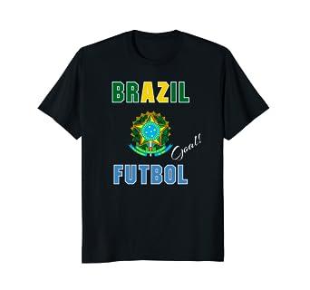 Camiseta De Brasil Futbol Brazil Soccer Tee T Shirt Goal