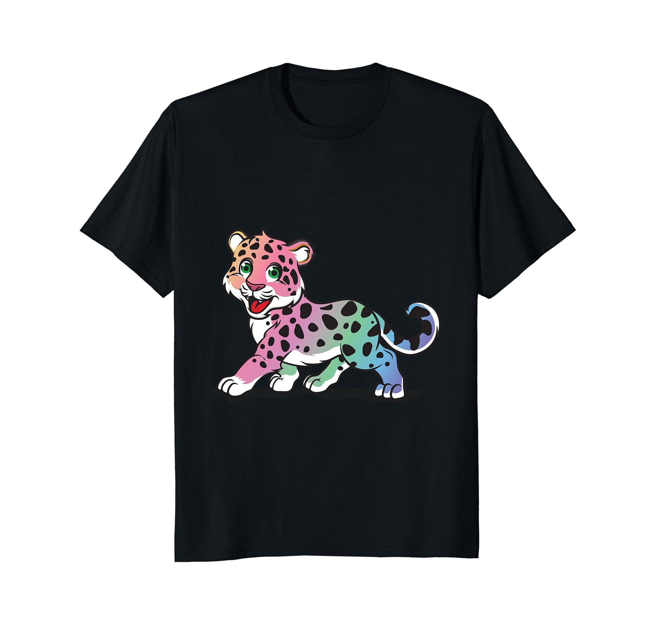 Adorable Rainbow Leopard Cat T-shirt-AZP