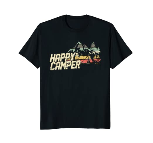 Amazon.com  Retro Happy Camper - Camping T-Shirt for Men 5c247a218d