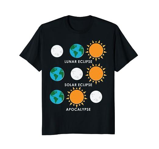 243a503e2c715 Amazon.com: Fun Solar Eclipse Lunar Eclipse Apocalypse T-Shirt: Clothing