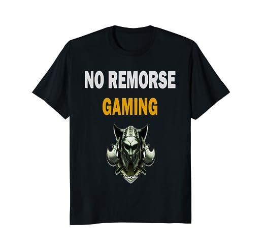 amazon com no remorse gaming clan logo t shirt clothing
