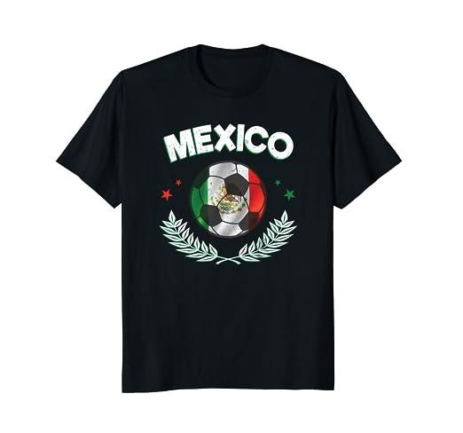 Amazon.com  Seleccion Mexicana Camisa De Futbol Mundial Bandera ... 94a88b824dcb8