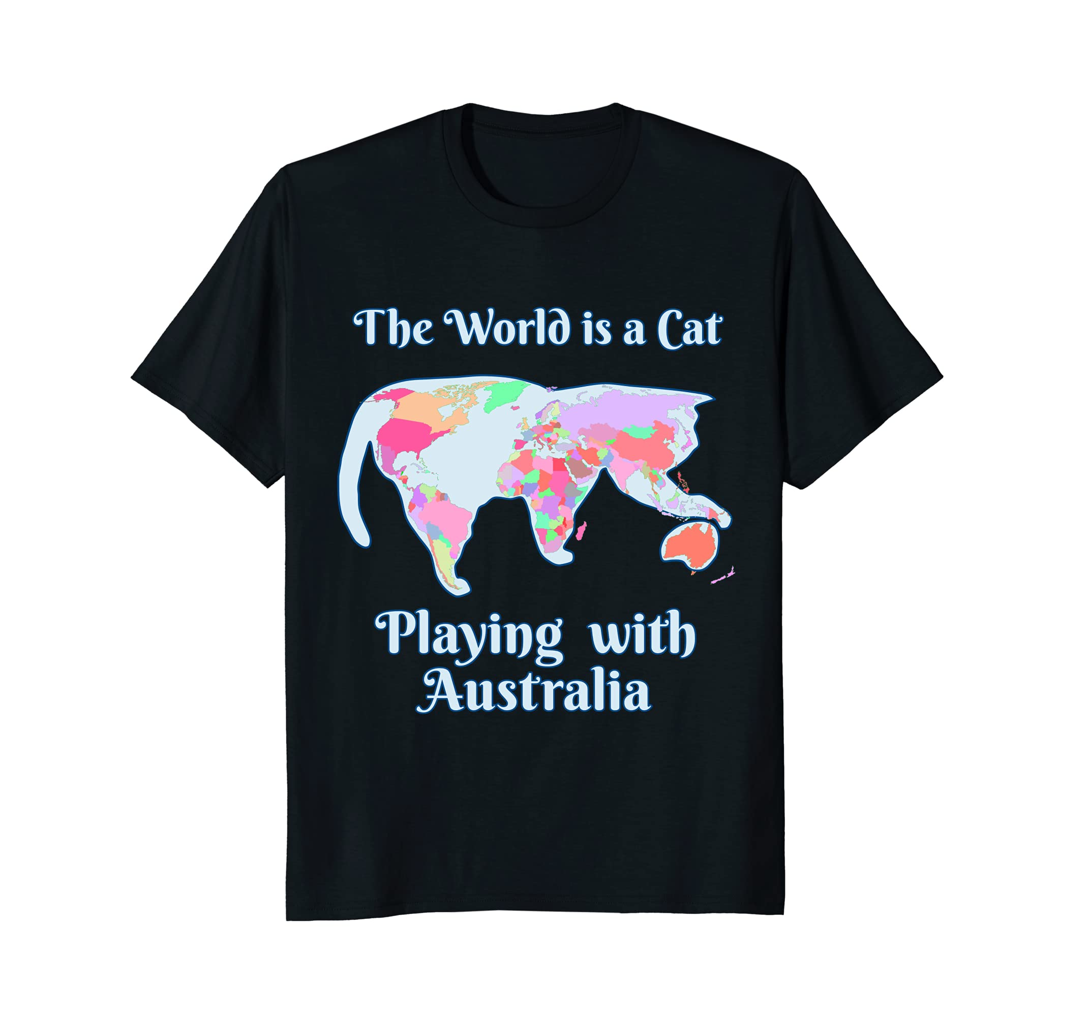 Funny world is a cat playing map t shirt for women and kids funny world is a cat playing map t shirt for women and kids gumiabroncs Images
