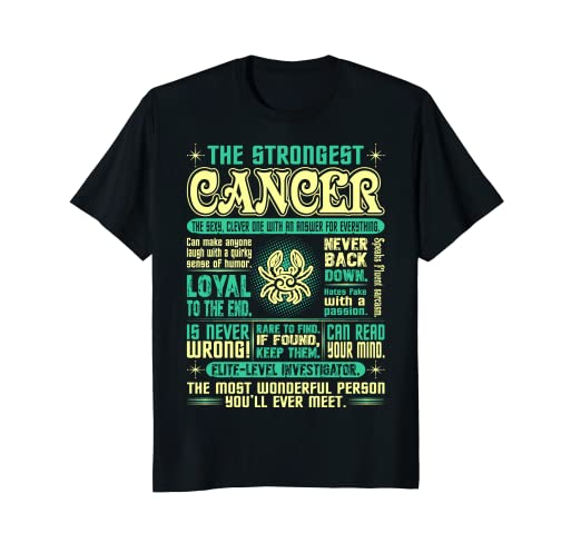 Strongest Cancer Loyal Can Read Your Mind Zodiac Tshirt