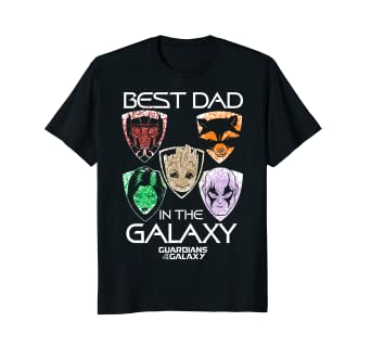 c1099fdd Image Unavailable. Image not available for. Color: Marvel Guardians Best Dad  Father's Day Graphic T-Shirt