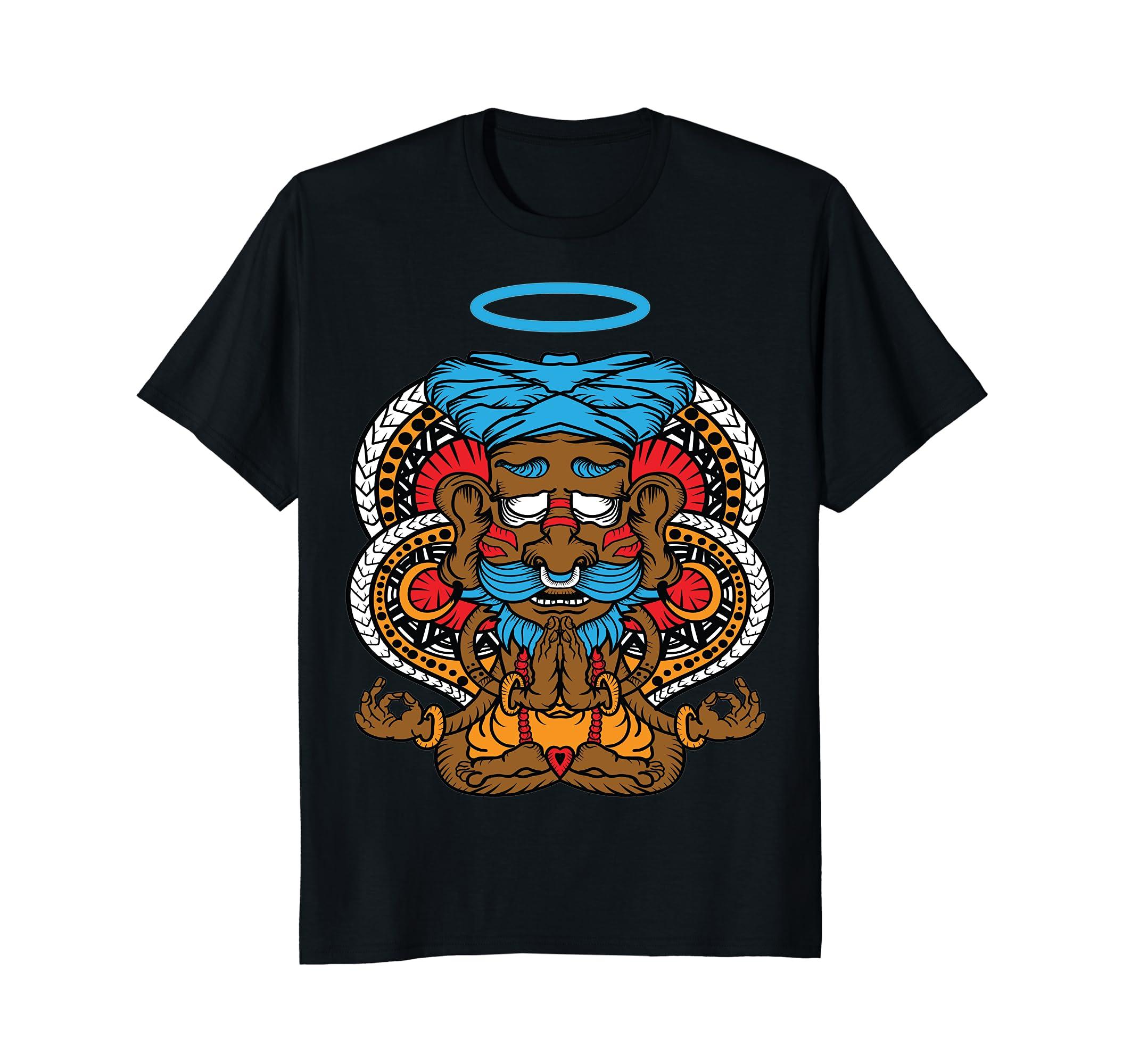 Amazon.com: India Yoga Meditation T-shirts Man Women: Clothing