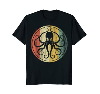 Amazon Retro Vintage Sea Monster Octopus Kraken Cthulhu