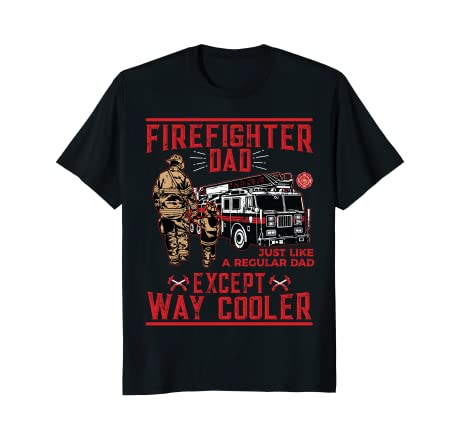 cc0492f96 Image Unavailable. Image not available for. Color  Mens Firefighter Dad T- Shirt Gift Firefighter Dads ...
