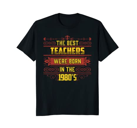 Birthday Gifts For Teacher Teachers 80s Retro Bday Tshirt