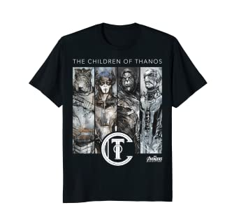 95be9ac6200 Image Unavailable. Image not available for. Color  Marvel Infinity War  Children of Thanos Graphic T-Shirt