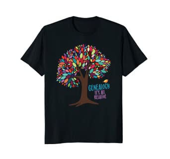 genealogy is all relative. family historian tee