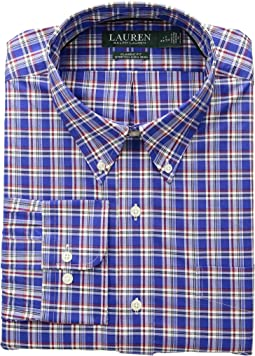Classic Fit No-Iron Plaid Cotton Dress Shirt