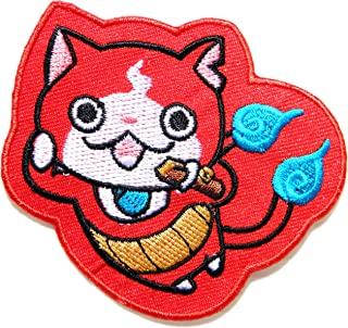 Jibanyan Yo-kai Watch Cat Cartoon Figure Patch Iron on Sew Embroidered Applique Craft Clothing Hoodie Cap T shirt Costume Gift Collection
