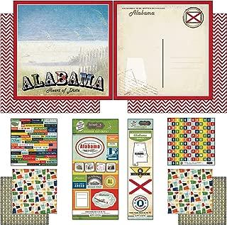 Scrapbook Customs Themed Paper and Stickers Scrapbook Kit, Alabama Vintage